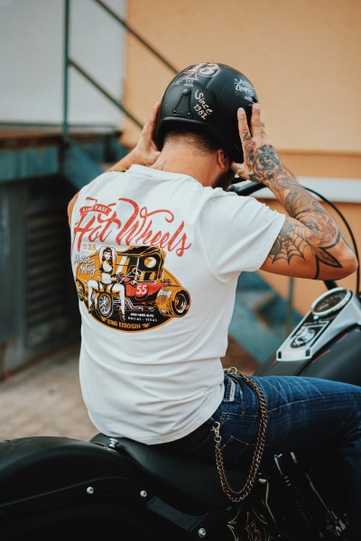 KING KEROSIN T-Shirt mit Back Print Hot Wheels