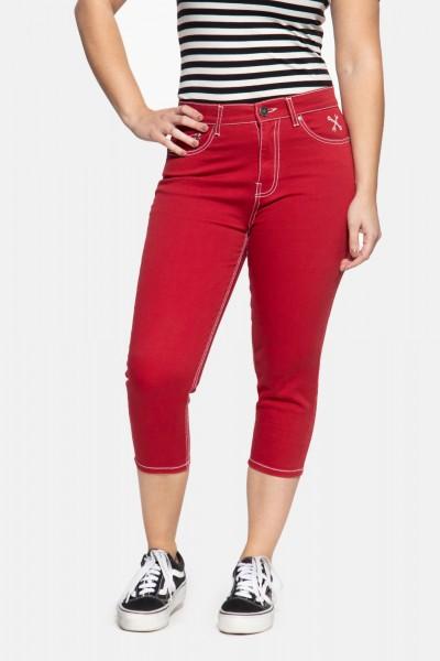 High Waist Slim Fit Capri Jeans »Betty«