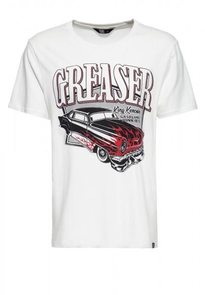 T-Shirt mit coolem Vintage-Print »Gasoline junkies«