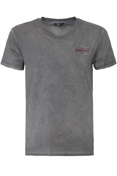 KING KEROSIN Oil Wash T-Shirt mit Garage Patch