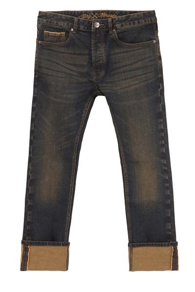 KING KEROSIN Selvedge Jeans mit Tint Wash