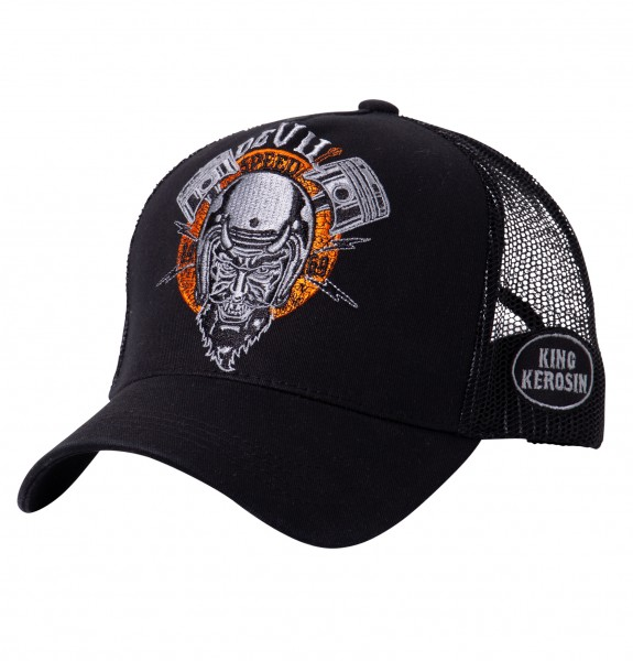 KING KEROSIN Cap mit rebellischer Front-Stickerei Devil Speed