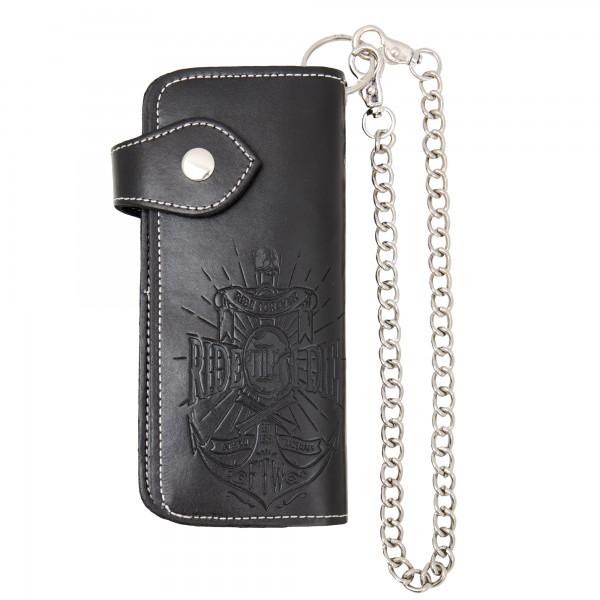 KING KEROSIN Geldbörse mit Geldbörsenkette und Verschlusslasche