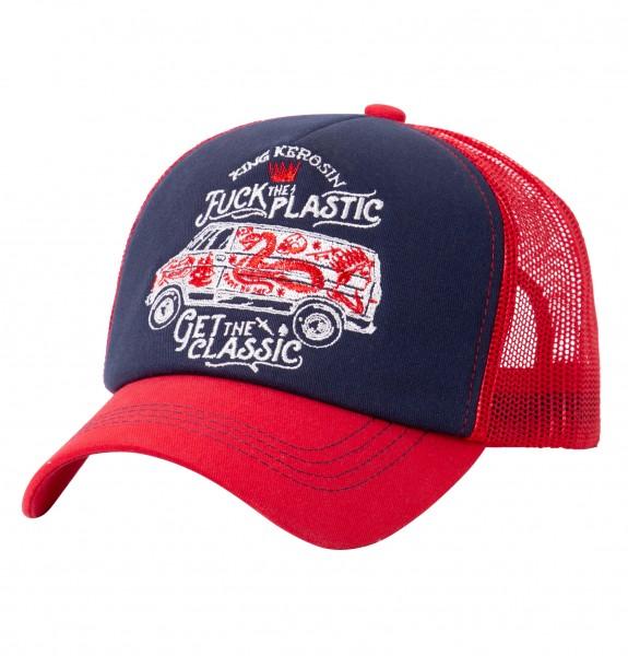 KING KEROSIN Trucker Cap mit großflächiger Stickerei