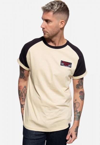 T-Shirt mit Raglan-Design und Patch »Octane Oils«