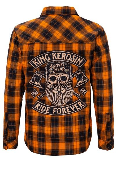 KING KEROSIN Langarmhemd im Biker-Style Ride Forever