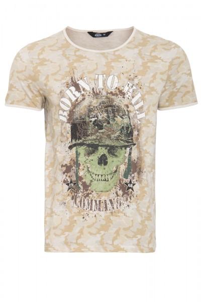 KING KEROSIN T-Shirt mit Print born to kill