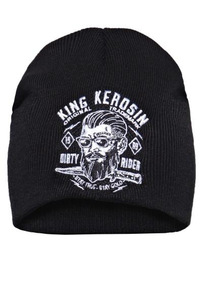 KING KEROSIN Strickmütze mit Frontstickerei Dirty Rider
