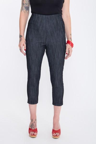 QUEEN KEROSIN Capri Jeans mit modischen Schlitzen am Beinabschluss Basic