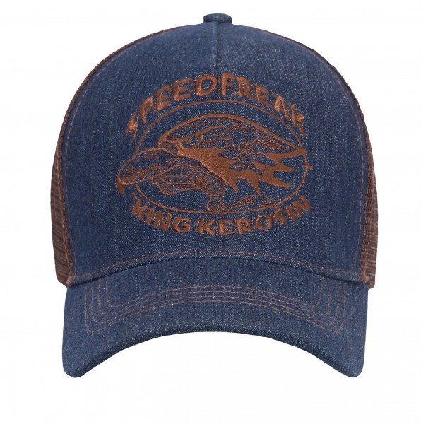 KING KEROSIN Trucker Mesh Cap im Jeanslook Speedfreak