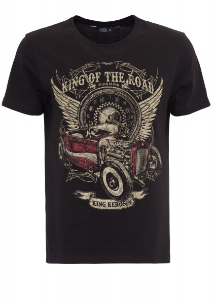 KING KEROSIN T-Shirt mit Front Print King of the Road