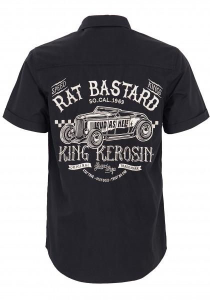 KING KEROSIN Kurzarmhemd mit Stickereien