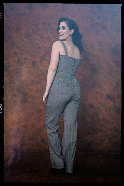 QUEEN KEROSIN Dungaree Jeans Jumpsuit im Vintage Look