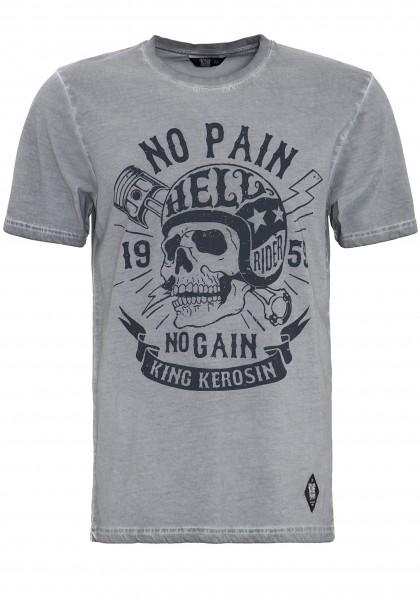 KING KEROSIN T-Shirt in Oil-Washed Optik No Pain