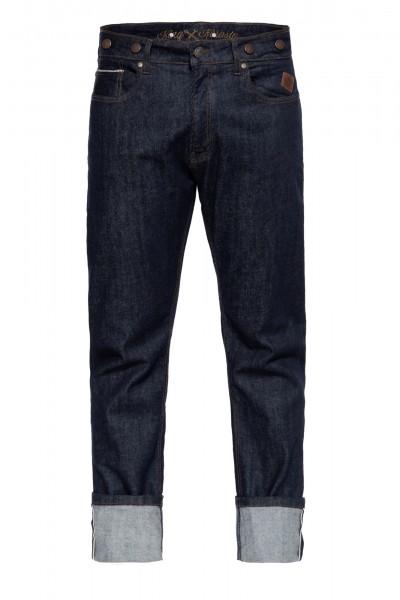 Vintage Red Selvedge Jeans mit Cinch Back und Knöpfen »Robin Selvedge«