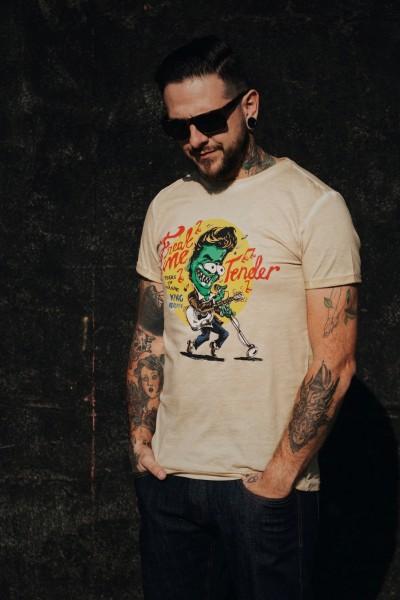 Roll-Up T-Shirt Oil Wash »Freak Me Tender«