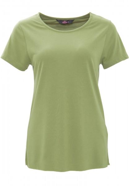 QUEEN KEROSIN Basic T-Shirt aus Viskose-Mix