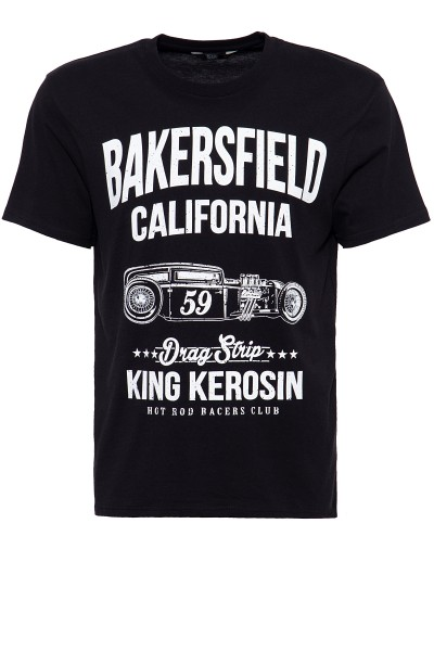 King Kerosin T-Shirt mit Hot Rod Print Bakersville