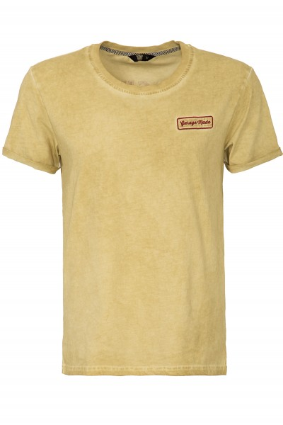 KING KEROSIN Oil Wash T-Shirt mit Garage Patch