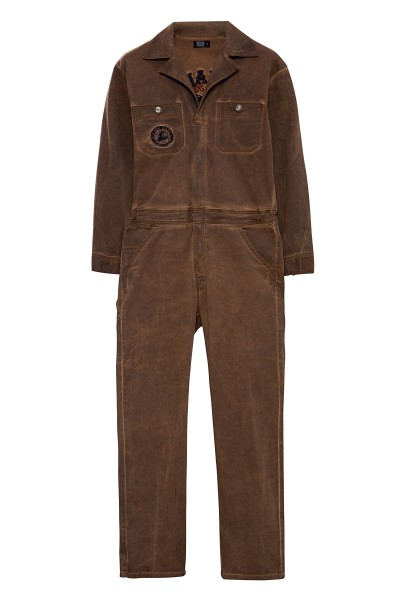 KING KEROSIN Workwear Overall mit Oilwash-Effekt