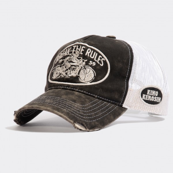 Trucker Cap im Used-Look »Break the Rules«