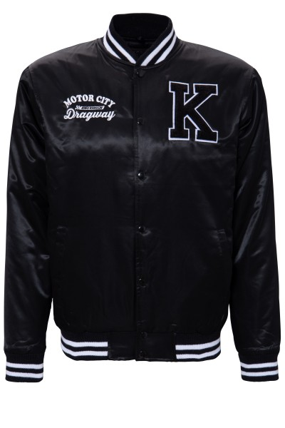 KING KEROSIN Satin College Jacke mit Stickerei Motor City