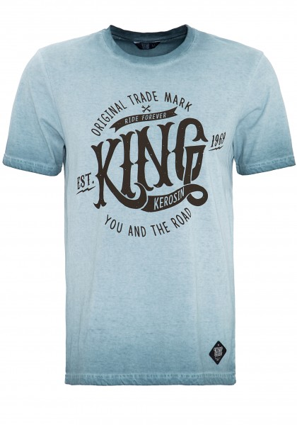 KING KEROSIN T-Shirt in Oil-Washed Optik Est.1969
