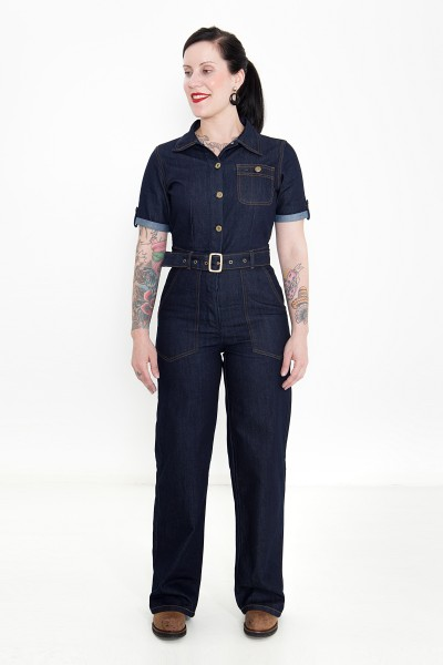 QUEEN KEROSIN Denim Overall im Worker-Look