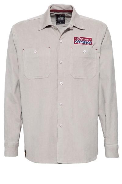 Langarm Workerhemd mit Stickerei im Rücken »Motor Way«