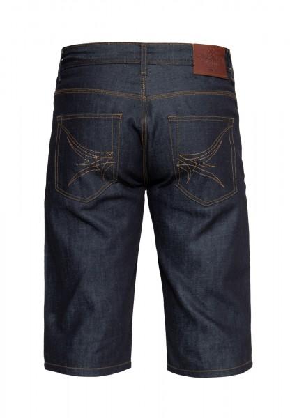 Denim Shorts mit Pinstripe Stitching