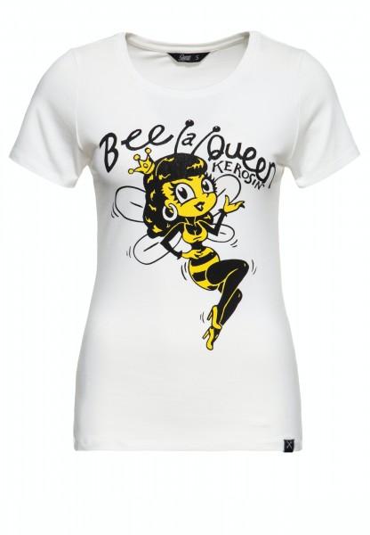 Slim Fit T-Shirt »Bee a Queen«