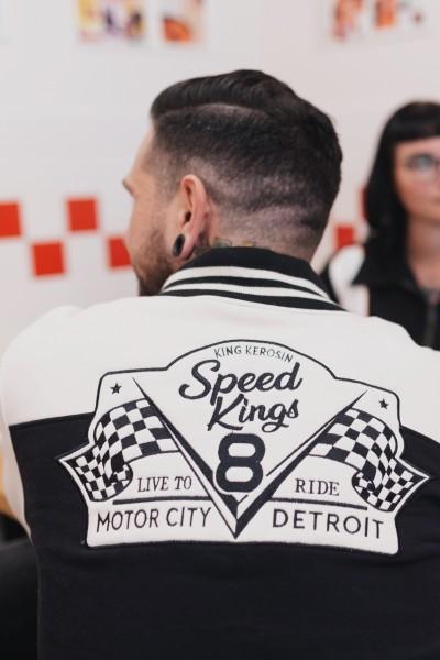 College Sweat-Jacke mit Stickereien »Speed Kings«
