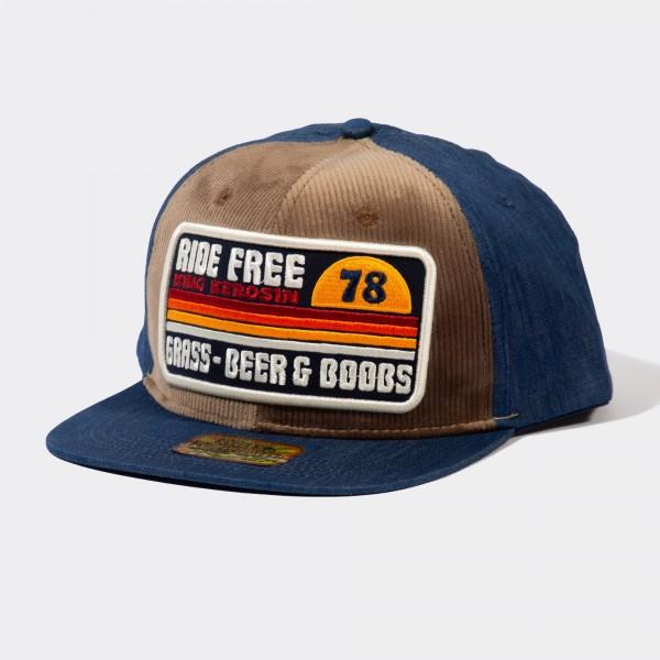 Snapback Cap mit Cord-Front »Ride Free«