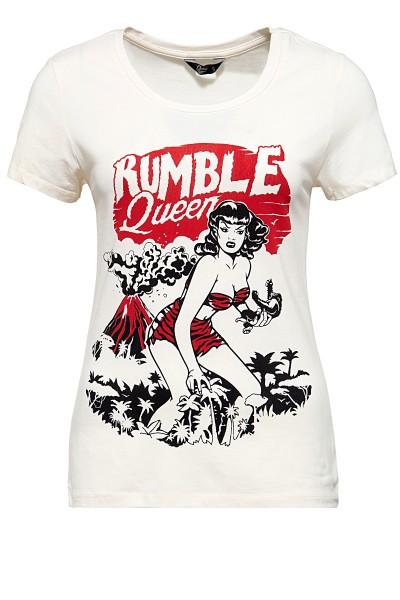 QUEEN KEROSIN T-Shirt im Vintage Look Rumble Queen