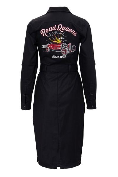 QUEEN KEROSIN Hemdblusenkleid in Vintage-Optik Road Queens