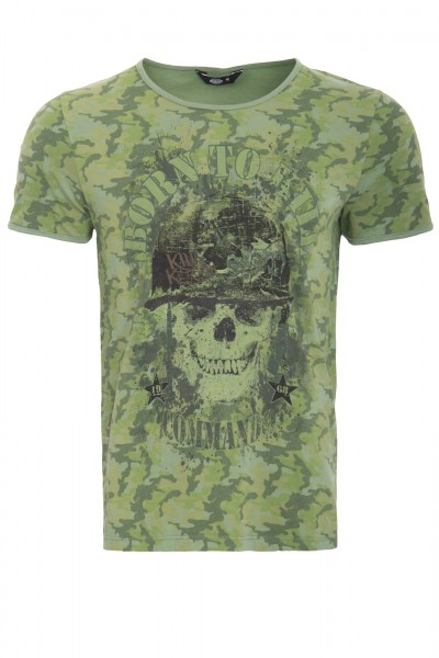 KING KEROSIN T-Shirt mit Print born to kill