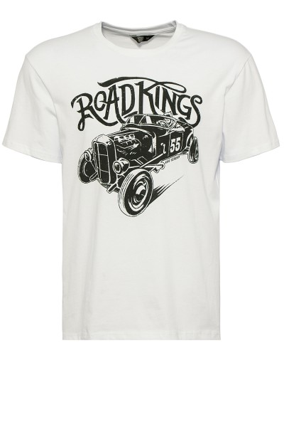 KIng Kerosin Shirt mit Retro-Druck Road Kings