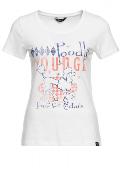 Slim Fit T-Shirt mit Frontprint »Poodle«