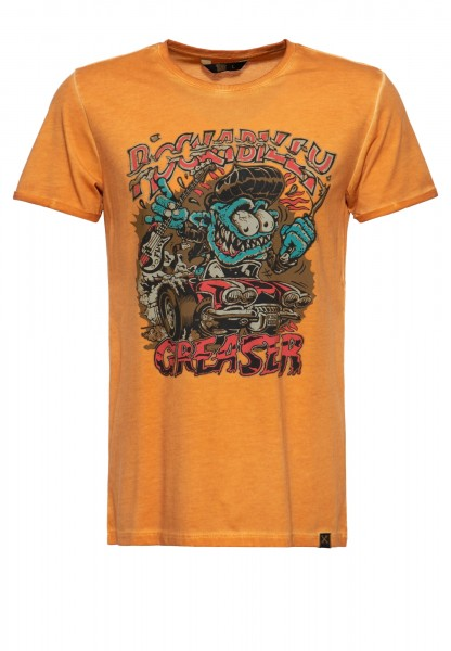 Roll-Up T-Shirt Oil Wash »Rockabilly Greaser«