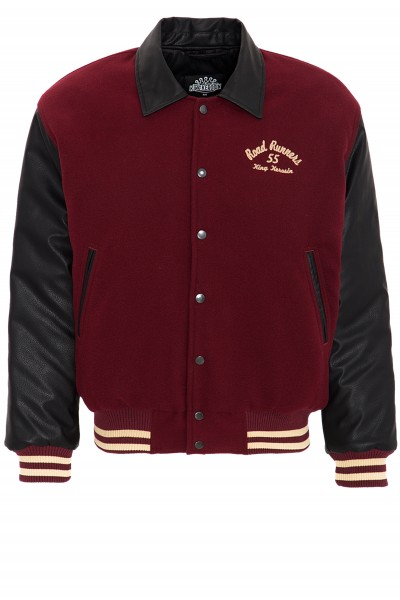 KING KEROSIN Baseball Jacke im Retro Look Road Runners