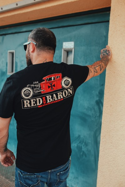 KING KEROSIN Shirt im Retro Style mit Back Print Red Baron