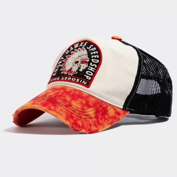 Trucker Cap im Used-Look »Angry Hawks Speedshop«