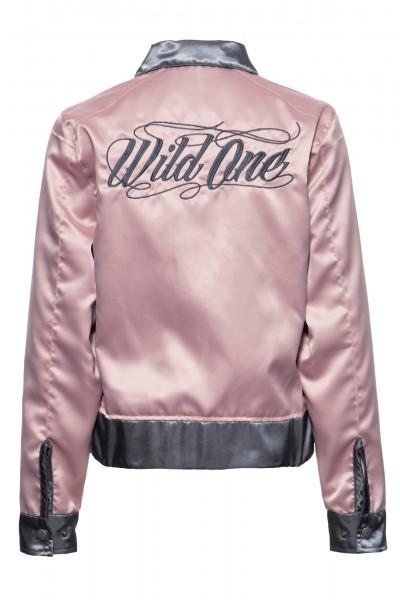 Wendejacke aus Satin mit Stickerei »Wild One«