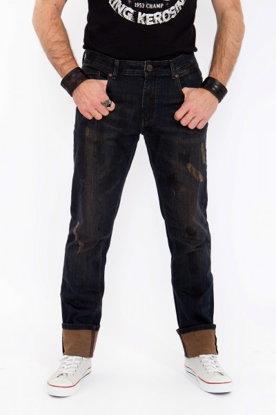 KING KEROSIN Slim Fit Jeans Rust & Dust Rust and Dust