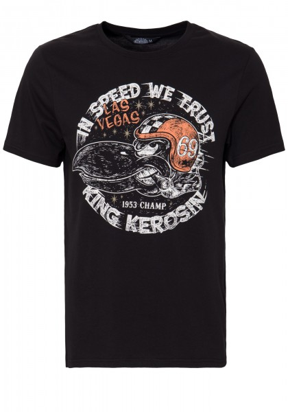 KING KEROSIN T-Shirt mit Front Print »In Speed we trust« In Speed we trust