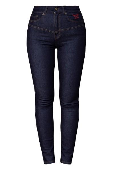 QUEEN KEROSIN High Waist Jeanshose im 5 Pocket Design Betty
