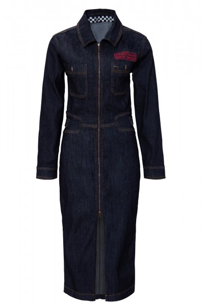 QUEEN KEROSIN Workwear Kleid im Vintage Look Motor Queen Service