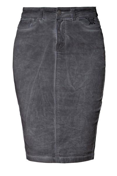 QUEEN KEROSIN Jeans Bleistiftrock mit Oilwash Effekt