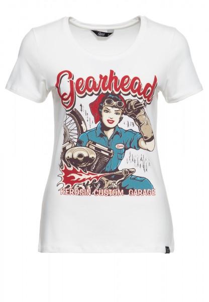 T-Shirt mit Frontprint und Rundhalsausschnitt »Gearhead«