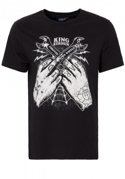 KING KEROSIN T-Shirt mit Front Print »Forever 2 Wheels« Forever 2 Wheels